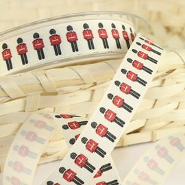 The Queens Soldiers Natural Ribbon - 15mm