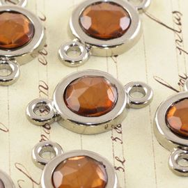 Smoked Topaz Gem Charm - 25mm