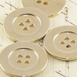 Charger Plate Button - Metallic Gold 25mm