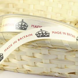 Made In Britain Natural Ribbon - 15mm