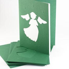 Angel Xmas Card Pack - Red