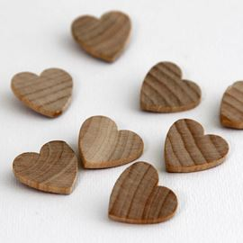 Small Wooden Hearts Pack Of 8