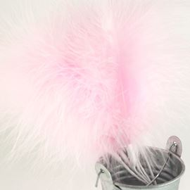 Fluffy Feather Spray - Baby Pink