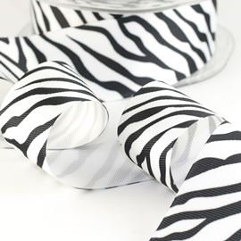 Grosgrain Print Ribbon - Zebra 39mm