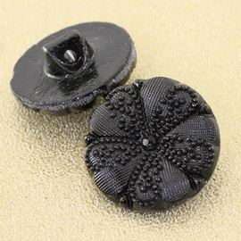 Vintage Queen Victoria Button. Black. 18mm/Ligne 28