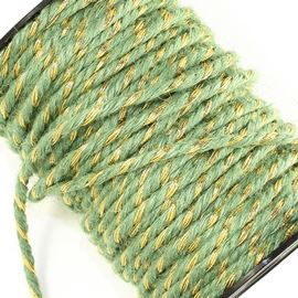 Twisted Jute Cord - Nat & Gold
