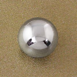 Sphere Button. Silver. 10mm
