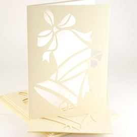 Christmas Bell Card Pack - Green
