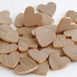 Small Wooden Hearts. Pack Of 40
