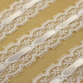 Lace With Slotted White Satin Ribbon