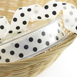 Spotty Grosgrain Ribbon - Blue. 15mm