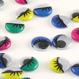 Multi Lashed Googly Eyes - 10mm