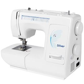 Silver 2021 Manual Sewing Machine