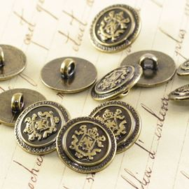 Plastic Bronze Military Button - 18mm - 1 Pack Of 10