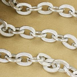 Stamped Silver Chain