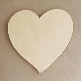 Wooden Heart - 125mm