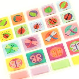 Epoxy Embellishment Stickers Bugs & Leaves.  Bugs