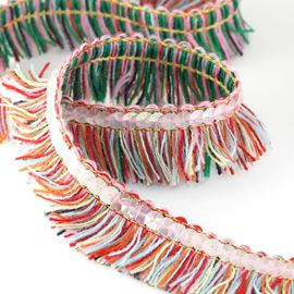 Festival Multi-Coloured Fringing - 28mm