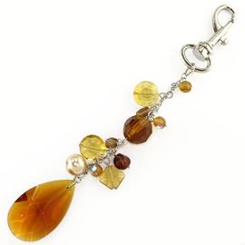 Bead Charm On A Trigger Snap. Amber
