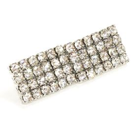 Rectangle Shaped Diamante Clasp Fastener. 38mm
