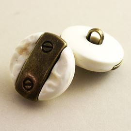 Rivet Button. Ivory. 21mm