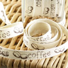 Twill Coffee Bean Ribbon - 10mm