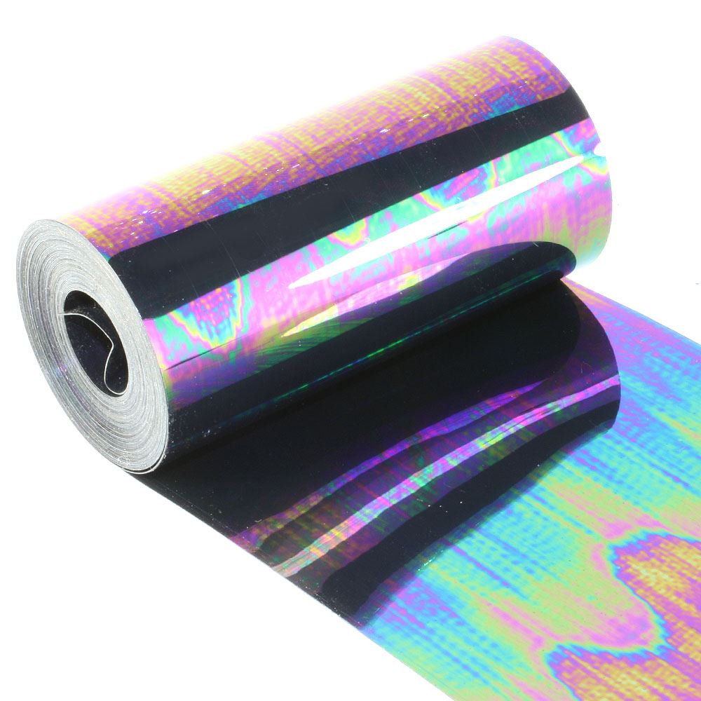 Metallic Petrol Black Sequin Film. 5m Roll