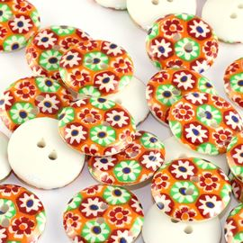 Flower Power Button - 18mm
