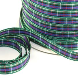 10mm Rose Tartan Ribbon