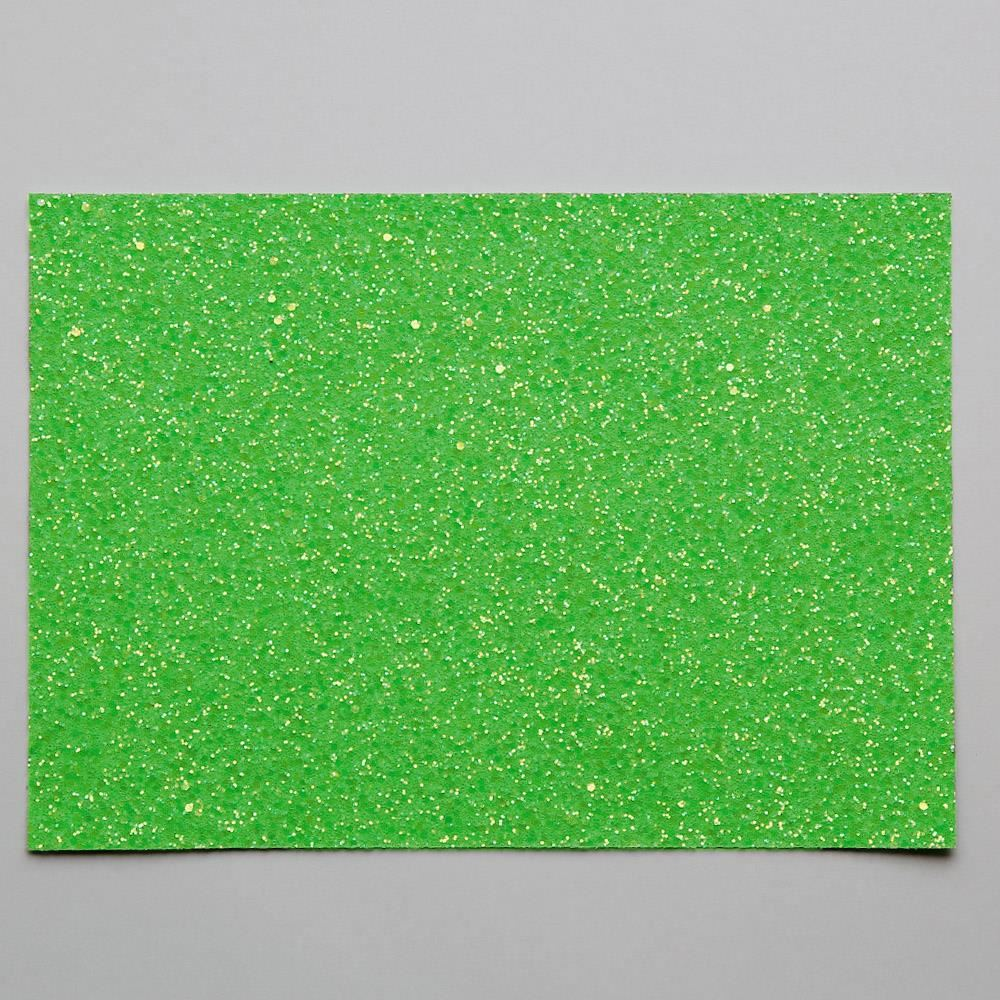 Apple Green Glitter Fabric. 1 Metre.