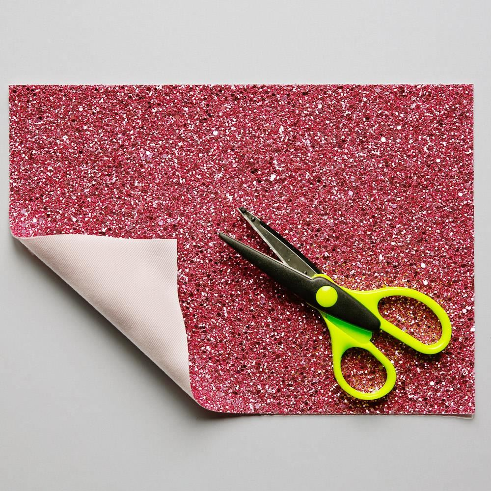 Bubblegum Glitter Fabric. 1 Metre.