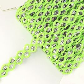 Fluorescent Lurex Sequin Trimming - Green