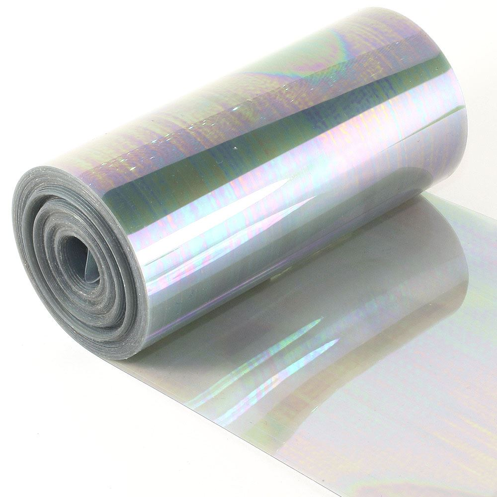 Clear Antique Silver Sequin Film. 5m Roll