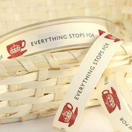 Everything Stops For Tea Ribbon - 15mm