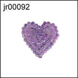 Blue Beaded Heart Motif