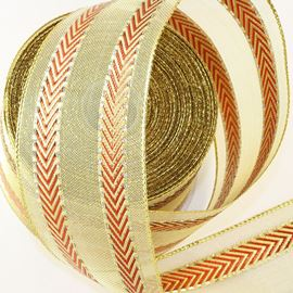 Wired Edge Double Chevron Shimmer . 64mm