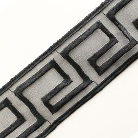 Greek Key Stone Trim, 60mm, Black
