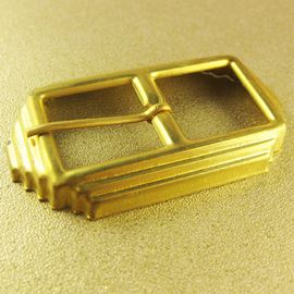 Deco Brass Buckle. Antique Gold. 63x34mm