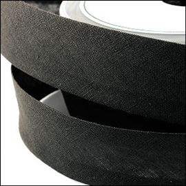 Bias Binding. 2 Metre Pack - Black 25mm