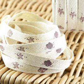 Printed Twill Sea-Side Ribbon - 10mm