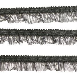 French Fancy Garter Elastic Trim, 15mm, Black