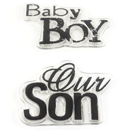 Clear Stamps - Boy Phrases