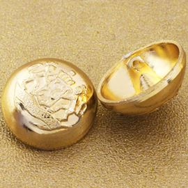Uniform Button. Gold. 19mm / 30 Ligne