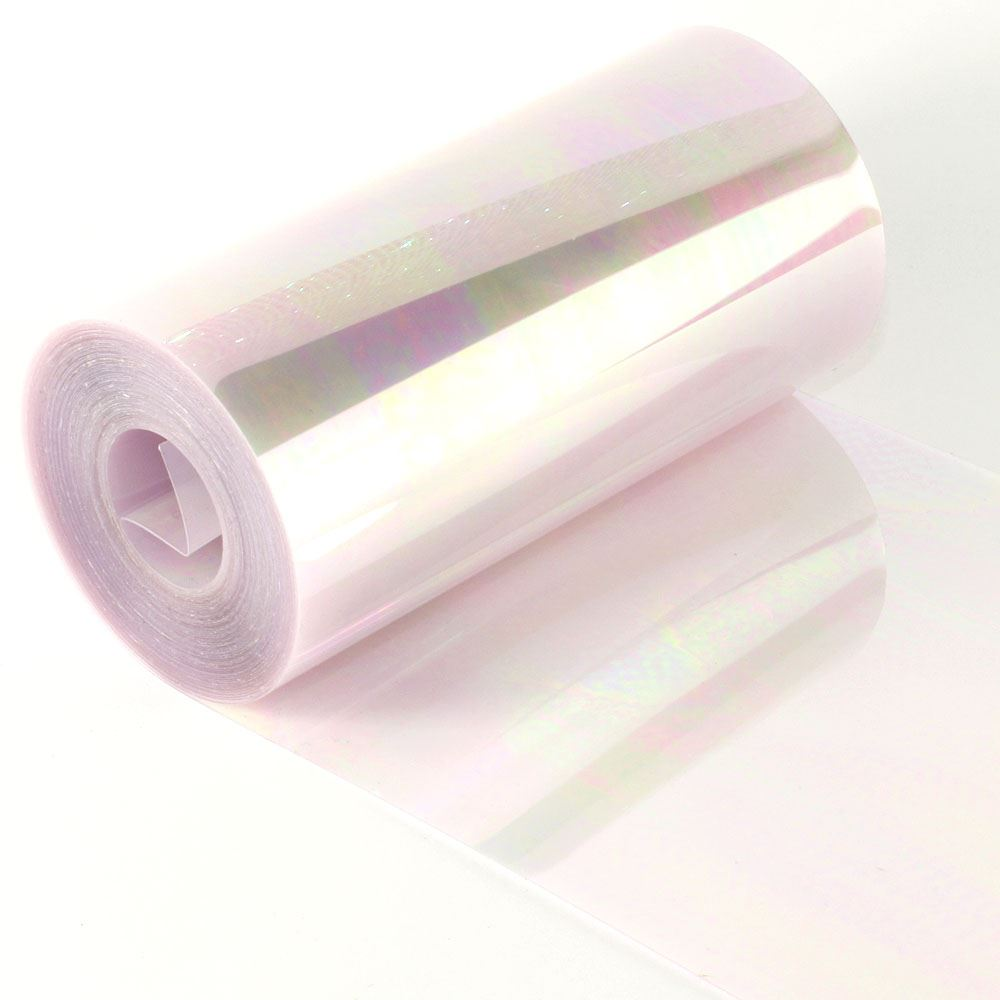 Clear Lilac Sequin Film. 5m Roll
