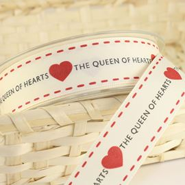 Queen Of Hearts Stitch Ribbon - 25mm