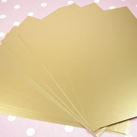 A4 Metallic Card - A4 Sheet X 5. Gold