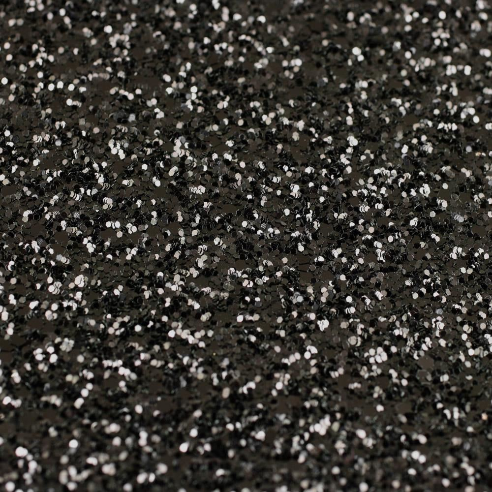 Metallic Black Self Adhesive Glitter Fabric Per Metre
