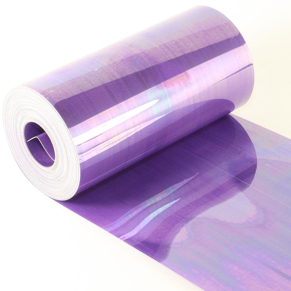 Glossy Amethyst Sequin Film. 5m Roll