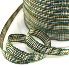 25mm Irish National Tartan Ribbon
