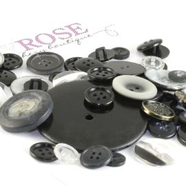 Button Mix 50g - Black Mix